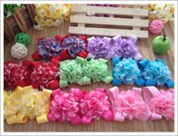 barrettes for toddlers - 20pairs striped chiffon flower feet barefoot baby feet flowers toddler shoes infant sandals foot accessories for newborn baby