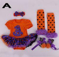 bebe leggings - Baby Girl Halloween Clothes Infant Tutu Romper Dress Jumpersuit Headband Shoes Leggings Infant Set Jumpersuit Bebe Costumes A6973