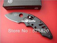 axis lock black blade - SR Black Mini Pocket EDC Folding Knife Axis Lock Todpole Shaped w Money Clip Lanyard Hole Retail Blister Package