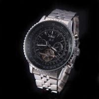 balance digital watch - Jaragar Automatic Self winding Mechanical Wrist Watch with Analog Display Stainless Strap Luxury Design Balance Wheel For Men