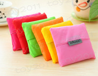 Wholesale New Candy color Japan Baggu Reusable Eco Friendly Shopping Tote Bag pouch Environment Safe Go Green