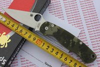 spyderco - Hot sell Spyderco C81GPCMO2 Paramilitary Knife S30V Digital Camouflage G Scales