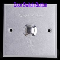 Wholesale Durable Aluminum Door Exit Push Button Switch for Access Control freeshipping