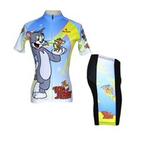 Short apparel rider - Hot sale New Women Cycling Jersey Short Set Rider Apparel Suits Paladin sport Tom and Jerry XS XL Women Cycling Sets