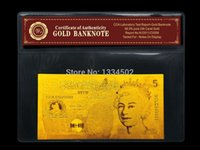 Wholesale 5 Pounds k Gold Banknote with COA Folder Accept Mixed