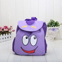 mr - Retail Dora the Explorer Backpack Mr Face Plush Backpack Shool Bag Purple Toddler Size New