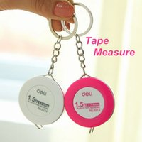 Wholesale 6 Plastic tape measure cm mini portable measuring tape Bag accessories Stationery material school supplies