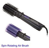 airs curling iron - 2015 New Arrival Ua Black Curling Curling Iron Hair Roller Electric Hot Spin Air Brush Dryer Ceramic Curler Inch Rotating Styling Tool