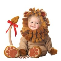 baby costumes lion - New Little baby Lion Costume Infant plush animal theme funny party halloween costume Toddler Fancy dress