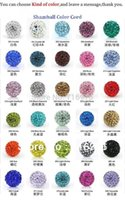 ab money - Lose Money Sale Mixed Shamballa Beads mm AB Clay Crystal Shamballa Disco Pave Crysta Balls w01735 w01748
