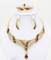Cheap Free shipping! Canada wedding costume jewelry set, high quality fashion wedding bride bridesmaid necklace accessories jewerly