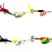 baiting suit - Metal Fishing Lures g Hot Sale Spoon Spinner Bait Hard Artificial Multi Color Sequins Feather Bionic Suit Three Hooks