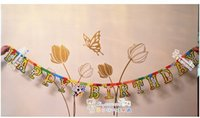 Wholesale Birthday party banner banner Party Happy birthday variety of birthday letters brace Football style