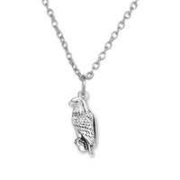 bald eagle animal - 100pcs Animal Bald Eagle Zinc Alloy Antique Silver Plated Charm Link Chain Necklace Jewelry A121509