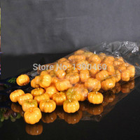 Wholesale 200PCS Mini Artificial Fruits Environmental Pumpkin Simulation Fruit For Kids Children room Home Wedding Halloween Decoration