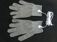 Wholesale Electrode Gloves Face Massager Therapy Gloves For Tens Machine Pain Relief Body Relax Massager Conductive Reuse