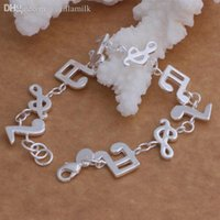 beautiful notes - factory sterling silver Music note hot Bracelet women jewelry fashion Beautiful high quality classic