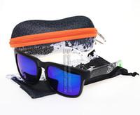 acrylic blocks - Fashion Wayfarer Women sunglasses Ken Block Men Sport Eyewear S1 Colorful Sun Glasses Oculos Case Bag Color