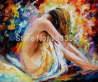 artist frames - Hand painted Abstract Quality Palette Knife canvas recreation sexy shower girl oil painting by Leonid Afremov artist