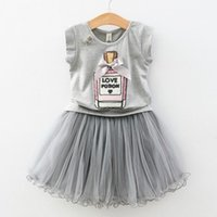 perfume set - 2015 Baby Girl s Lovely Suits Children s New Arrival Sets Bowknot T Shirt Tutu Skirts Two piece Outfits Hot Sale Perfume Bottle