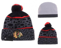 Wholesale New Beanies Team Hockey Pom Knit Hats Sports Cap Mix Match Order All Caps in stock Top Quality Blackhawks Hat