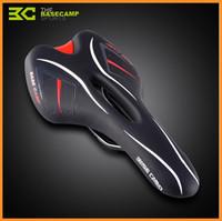 Wholesale BaseCamp Elastic Sponge Pad Mountain Bike Waterproof PU Leather Cover Bicycle Saddle Cycling Hollow Saddle Cushion DHL