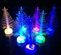 fiber optic tree - Christmas Decoration Led Fiber Optic Lantern Colorful Christmas Tree Automatically Flashing Night Lights LED flash tree Xmas Gift