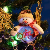 animated christmas tree lights - 2015 Christmas Tree New Year Decorations Ornament For Home Animated LED Light Merry Christmas Dolls Santa Claus Snowman