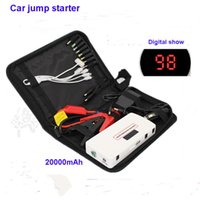 Wholesale 18000mAh multi function LCD digital car jump starter car engine Emergency start battery power bank for mobile phone Tablet PC