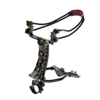 Wholesale Outdoor High Quality Aluminum Alloy Wrist Brace Slingshot Catapult with Flashlight Clip Hunting Tool