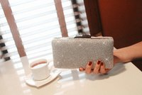 bag hand make - Sparkly New Arrival Colors Silver Gold Black Women Eveing Bags Purses Fashion Bling Ladies Clutch Hand Made Bags