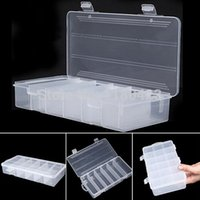 Wholesale Fishing Lure Bait Plastic Storage Case Fishing Tackle Box with Compartments