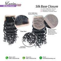 Cheap Free Part Human Hair Silk Base Closure 100% Unprocessed Brazilian Hair Silk Top Closure Rosa Hair Products 6A Free Shipping