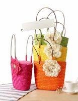 Wholesale 2014 Lovely Girls Hangbag Big Camellia Flower Rattan Straw Bag Sunflower Woven Bag Beach Messenger Bag colors Tote Shoulder Design Bag A271