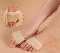 ballet pointe shoes - Professional belly dance Ballet dance gymnastics mat toe thong dance shoe foot protective shoes