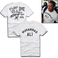 basic graphics - New Fashion MUHAMMAD ALI Men s T Shirt Graphic Letter Printed Cotton White Basic Top Tee Shirt Front And Back Printing S XL