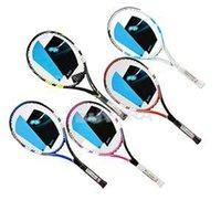 brand tennis bag - 2014 New Men Carbon Fiber Tennis Racquet Brand String And Bag Tennis GripTennis Racquets Equipped