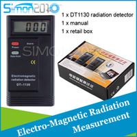 Wholesale DT1130 Electro Magnetic Radiation Detector LCD digital radio Dosimeter Analyzer mini Measure Instruments tester Counter EMF Meter