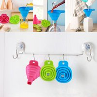 Wholesale Mini Silicone Gel Practical Collapsible Foldable Funnel Hopper Kitchen Tool