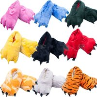 Wholesale New Hot Sale Unisex Cosplay Plush Slippers Monster Animal Paw shoes Warm Indoor Slippers Shoes for men women