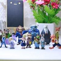 Wholesale Zootopia PVC Action Figures Toy Cartoon Animal Dolls Anime Utopia Nick Fox Judy Rabbit Flash Sloth Toy For Kids Gift