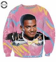 bank hoodie - w151231 OPCOLV New fashion Hollywood Crewneck sweatshirts Sexy SO Fresh Carlton Banks printed hoodies winter long sleeve Pullover