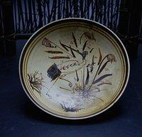 Wholesale Song Cizhou painted antique hand painted porcelain bowl snake FIG old antiques flea classical decoration ornaments