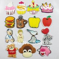 apples hamburg - by FEDEX Custom cartoon soft PVC fridge magnet for kids cake ice cream pumpkin hamburg apple coffee