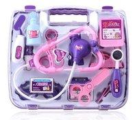 Wholesale Play house toy set Child Kids Simulation Doctor Play Set Nurse Medicine plastic Box Pretend Play Classic Toys baby girl famliy gift