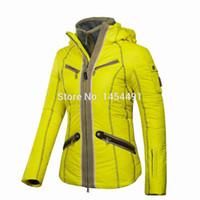 Wholesale 2015 winter TOP Women DOWN ski jacket snowboard waterproof fabric jacket skiing jacket B1518