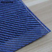aramid cloth - Twill Carbon Aramid Fiber Hybrid Cloth Blue g m2 Real High Quality Carbon Aramid Fiber Yarn For Sprot Products