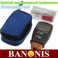 Wholesale High quality digital photo laser tachometer digital speedometer tachometer non contact equipment Speed Measuring Instruments
