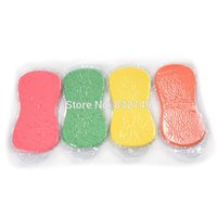 Wholesale 6 Beauty Colorful Paint Pad Strong Car Wash Sponge Magic Home Kicthen Cleaning Sponge Washing order lt no track