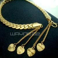 Wholesale 18K CT Yelow Gold Filled Women Deco Solid Bracelet Bangle jewelry b144
